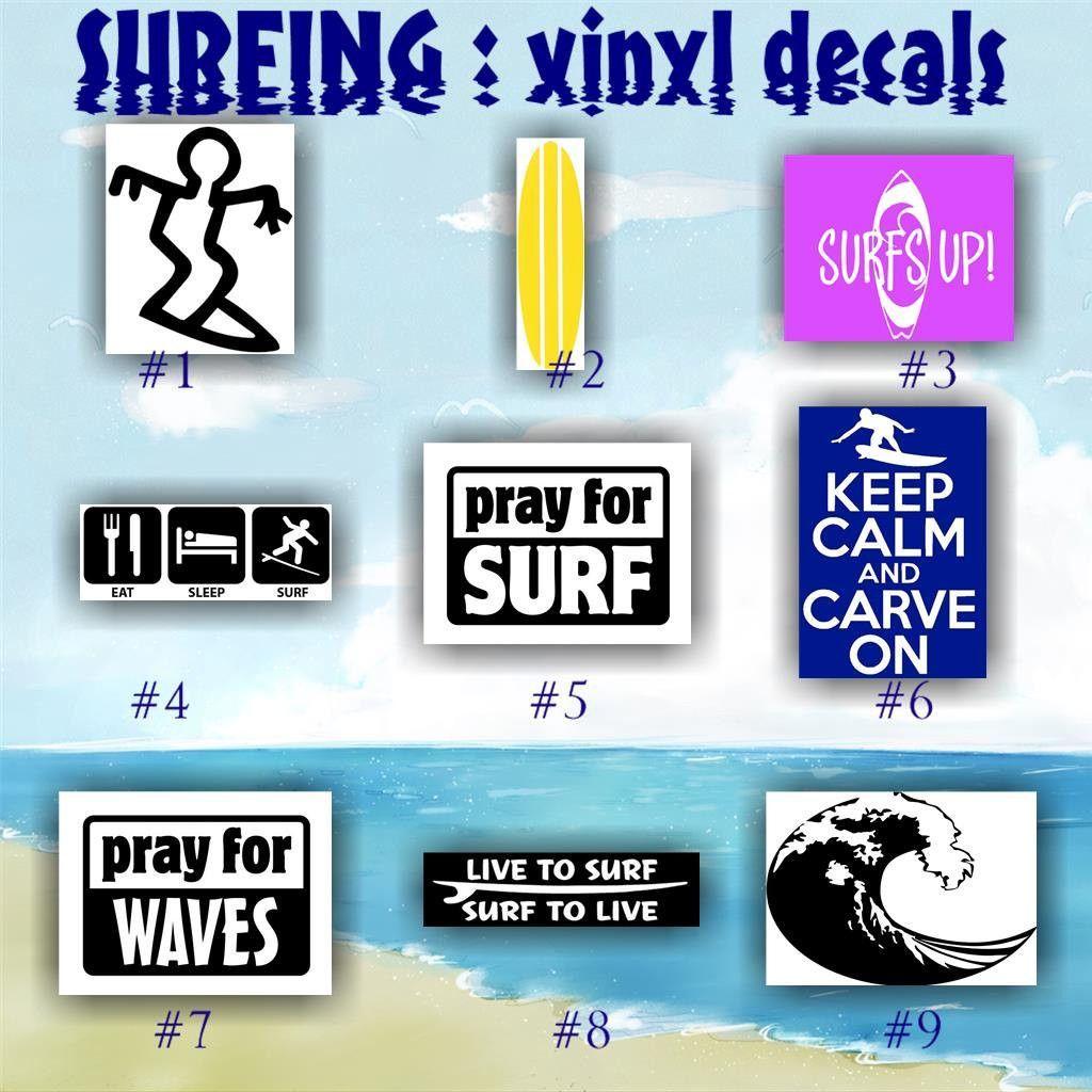 SURFING Vinyl Decals SURFER Vinyl Decal Surfer GIRL Car - Custom vinyl decals car windows