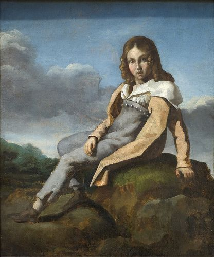 Alfred Dedreux (1810–1860) as a Child, ca. 1819–20, for more, please visit http://www.painting-in-oil.com/artworks-Delacroix-Eugene-page-1-delta-ALL.html