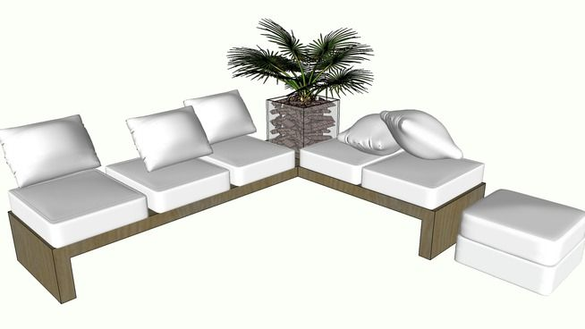 Basic Comfy L Shaped Sofa   3D Warehouse | Shofa 1 | Pinterest | Warehouse  And Interiors Great Ideas