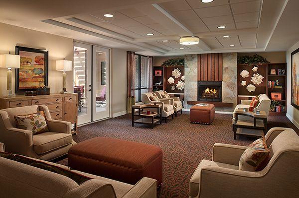 Morningstar Arcadia Memory Care Living Room Senior Living Interior Design Senior Living Design Assisted Living Homes
