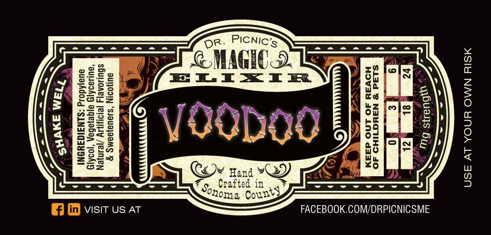 Dr Picnics Magic Elixir Juice Packaging Logan Vaping Sticker Label