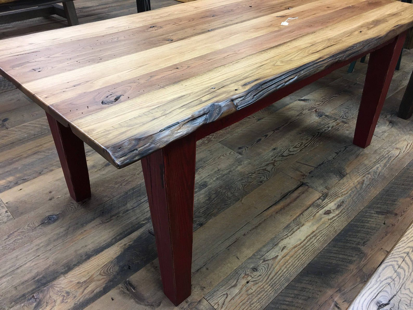 Barnwood Dining Table Reclaimed Wood Table Farmhouse Table Etsy Dining Furniture Makeover Outdoor Dining Furniture Dining Furniture
