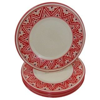 Shop for Set of 4 Stoneware Dinner Plates Nejma Design (Tunisia). Get free  sc 1 st  Pinterest : design dinner plates - pezcame.com