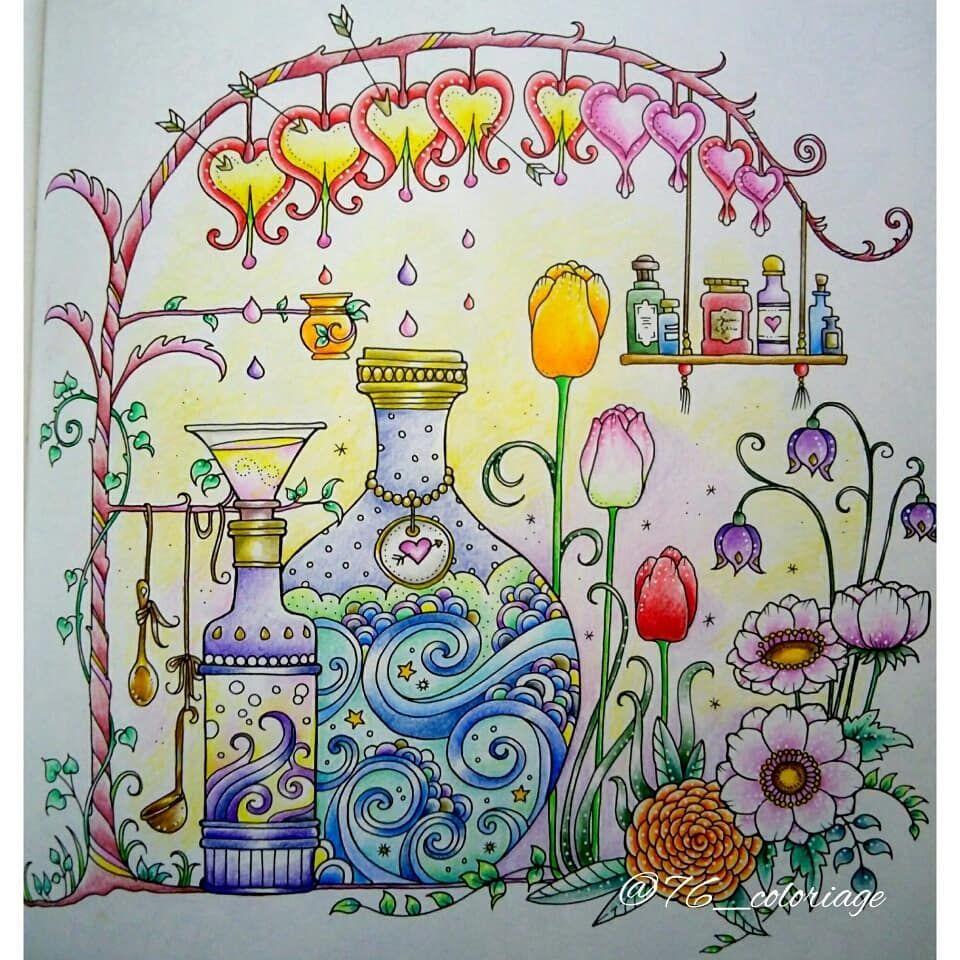 ジョハンナさんの フラワーズ Flowers 花を彩るぬりえブック