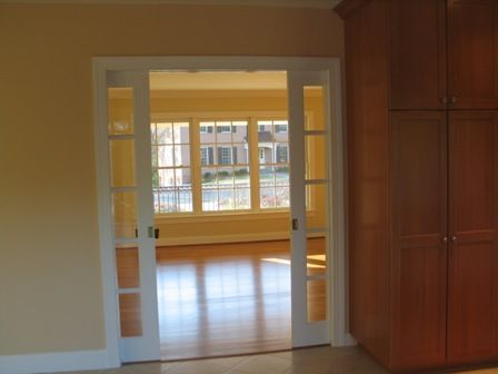 Space saver idea pocket doors pocket doors glass for Pocket door ideas