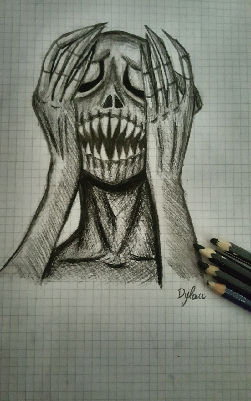 Easy Scary Halloween Drawings : scary, halloween, drawings, Sketch, Scary, Drawings,, Creepy, Sketches,, Drawings