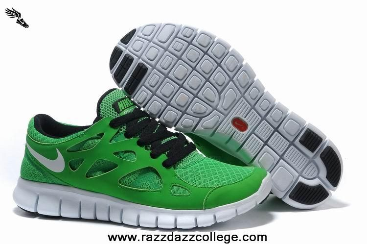 8aac9efbc383 Green White 443815-019 Mens Nike Free Run 2