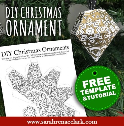 Free Christmas Ornament Template  Paper Ornaments Christmas