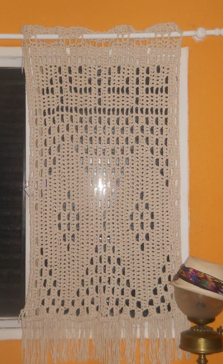 Cortina O Visillo Tejida Al Crochet | Visillos, Cortinas y Tejido
