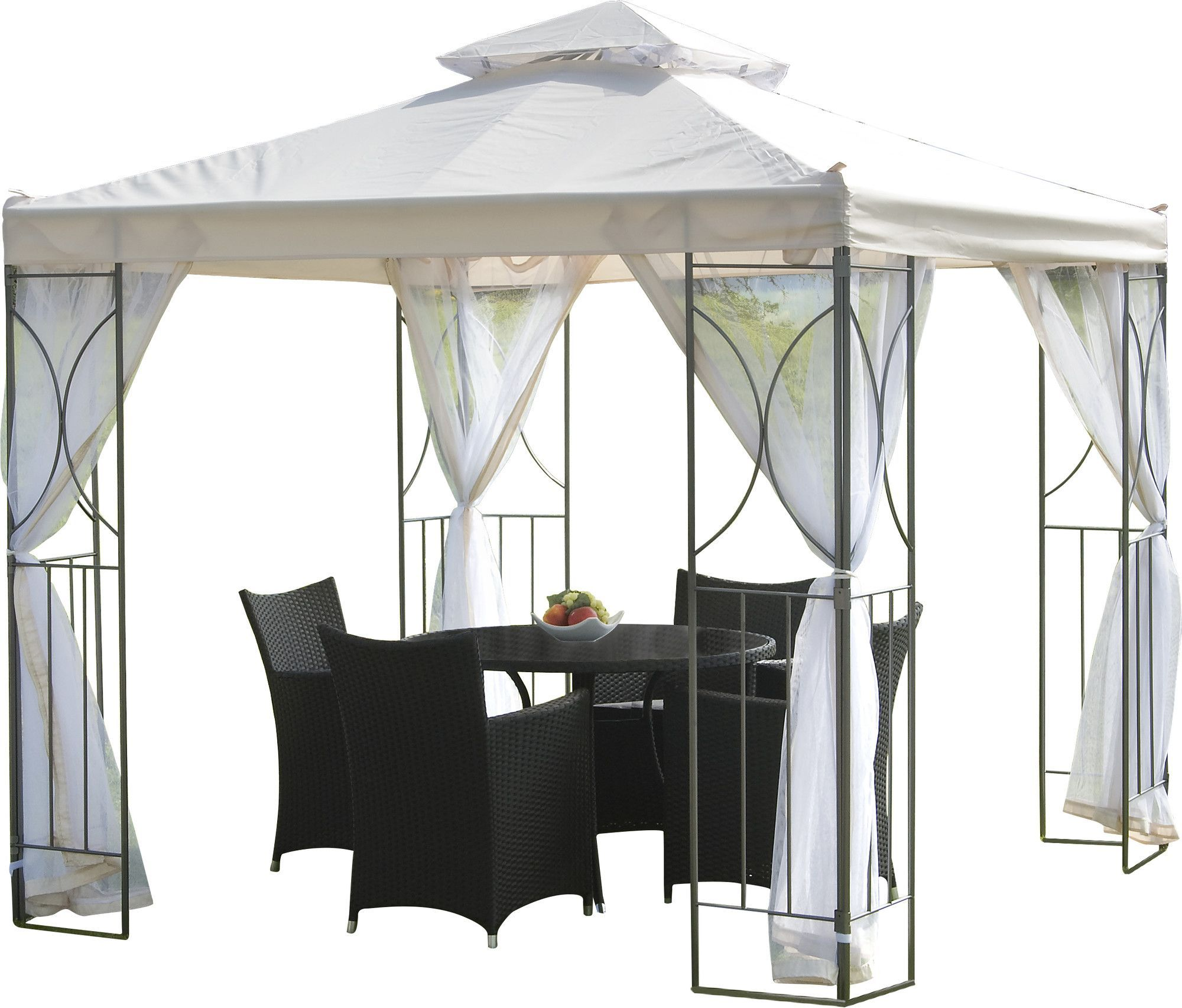 Polenza 8 Ft W x 8 Ft D Steel Permanent Gazebo