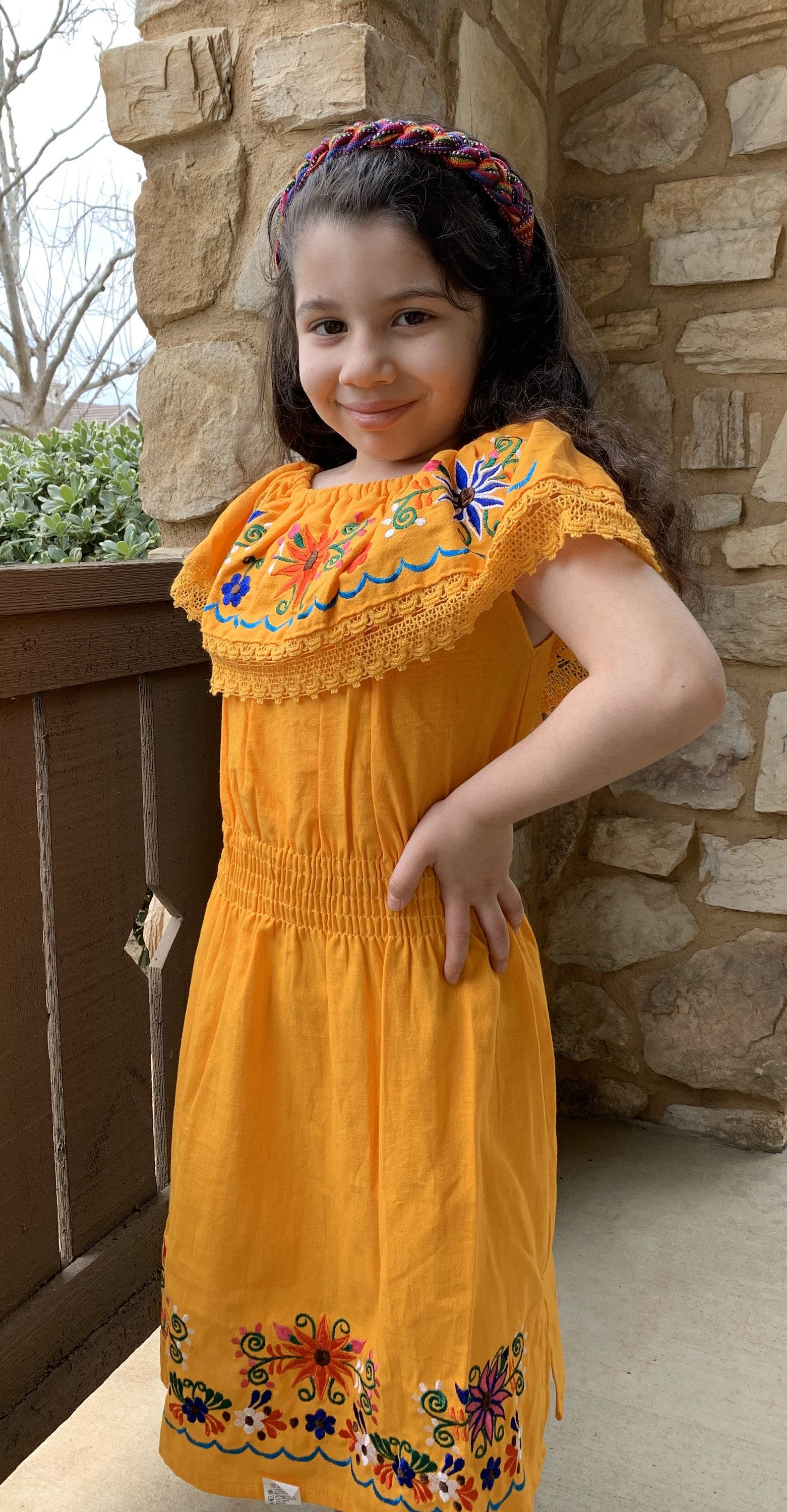 Excited To Share The Latest Addition To My Etsy Shop Mexican Girl Dress Girl S Off The Shoulder Dress Boho Girl Dress Fiesta Dress Boho Girl Girls Dresses [ 3000 x 1561 Pixel ]