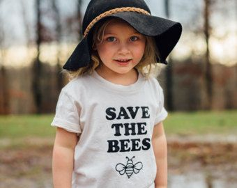 Save the Bees Kids Shirt, Save the Bee, Bee Shirt, Endangered Species Clothing, Toddler Shirts, Hippie Kids Shirt, Bee Tee, Magnolia Roots
