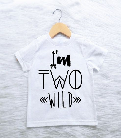 I'm Two Wild CUSTOMIZABLE COLORS boys second 2nd birthday shirt boho wild one 2 #dreamdates