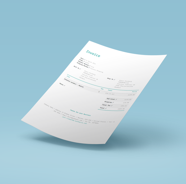 summer breeze invoice template for shopify order printer