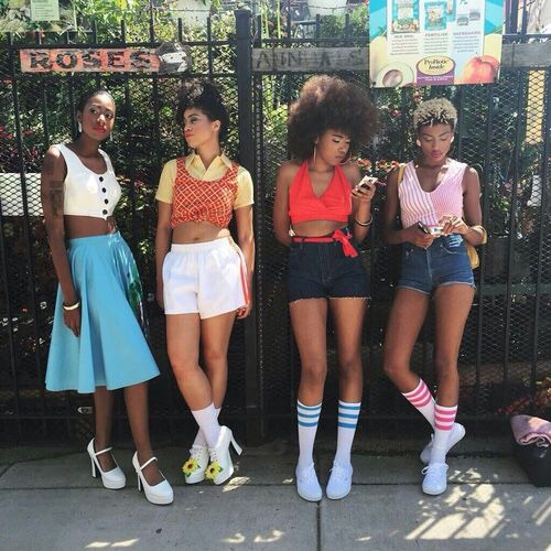 R Eal Life Black Girls Club 1º Pic Http X2f X2f Blvckcrystal Tumblr Com X2f Fashion Style Vintage Summer Fashion