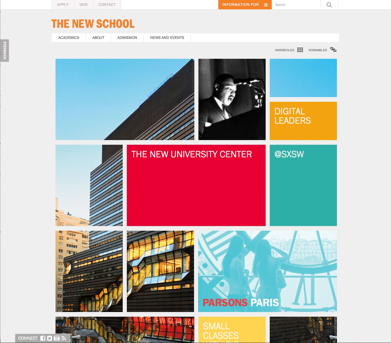 New School Main Page Liberal Arts College The New School University