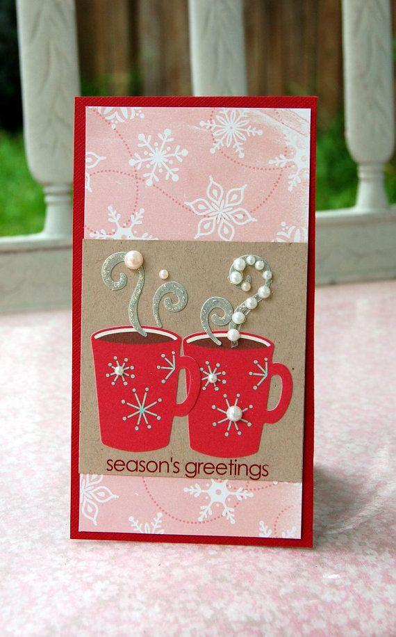 Hot chocolate holiday card Hot chocolate holiday