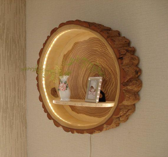 tree trunk lamp wood lamp holzlampe baumst mme und lampen. Black Bedroom Furniture Sets. Home Design Ideas