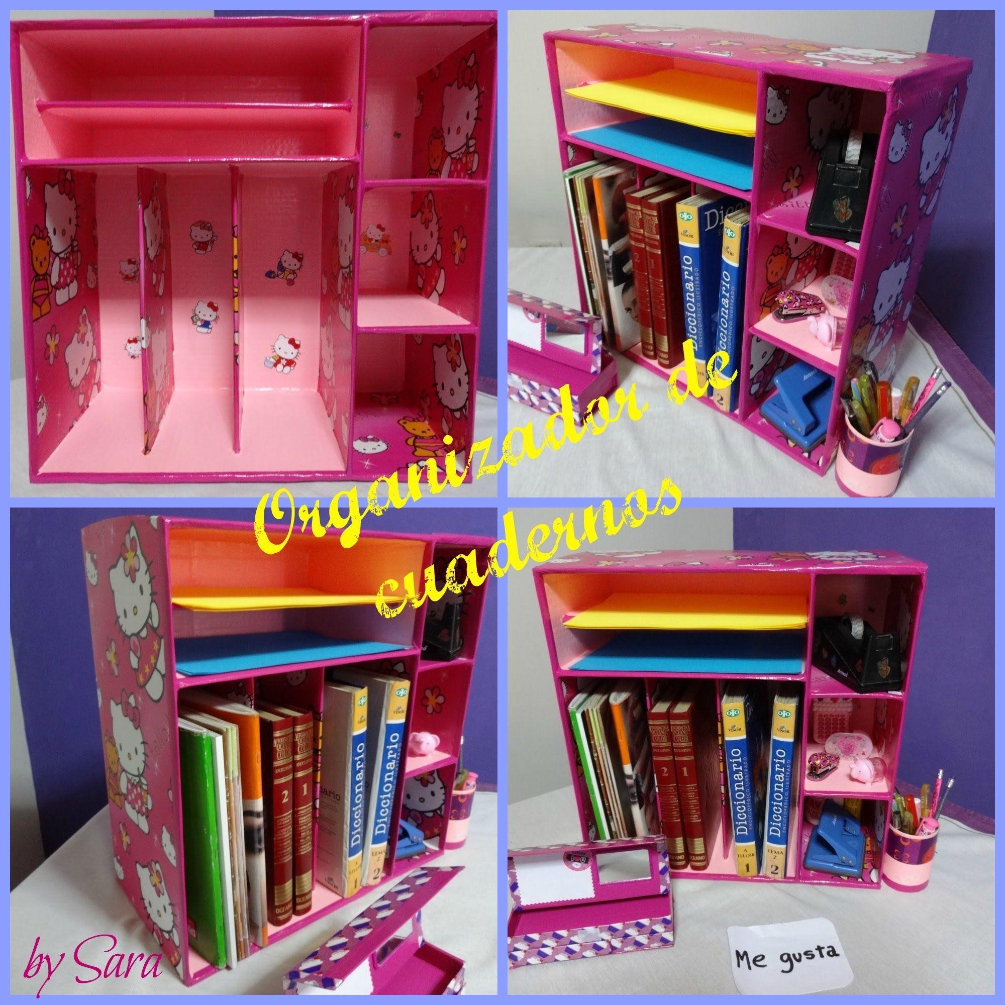 organizador de cadernos e livros