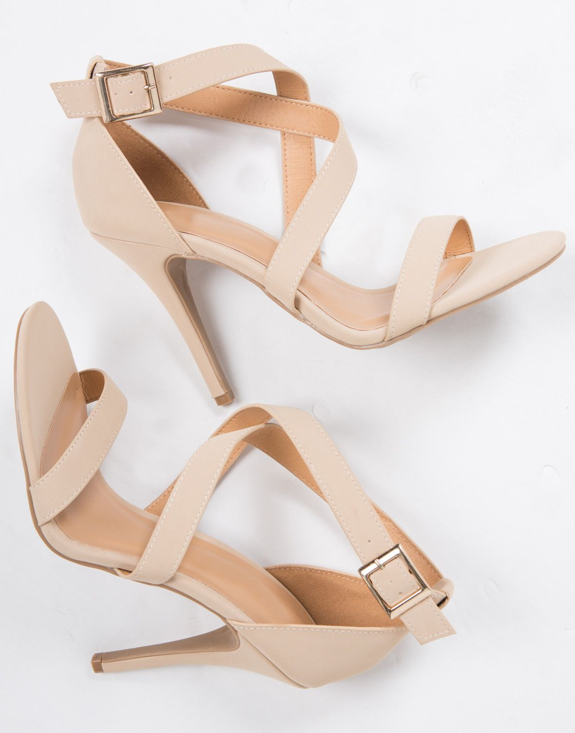 1f2d889fc35 Criss Cross Strappy Heels | Shoes in 2019 | Shoes, Strappy heels ...