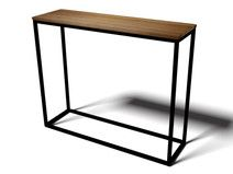 Console table oak pine industial style