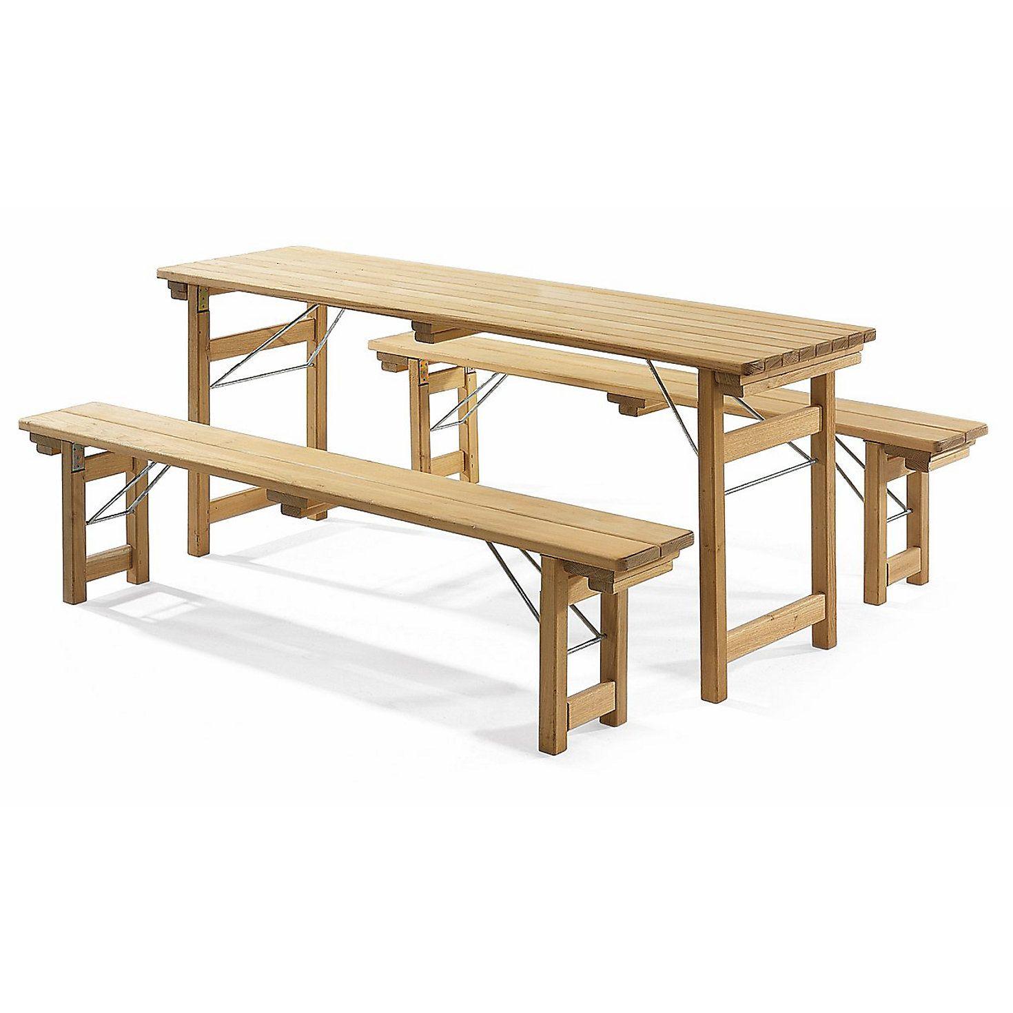 Biergartengarnitur Robinienholz Manufactum Gartentisch Holz Gartenmobel Manufactum
