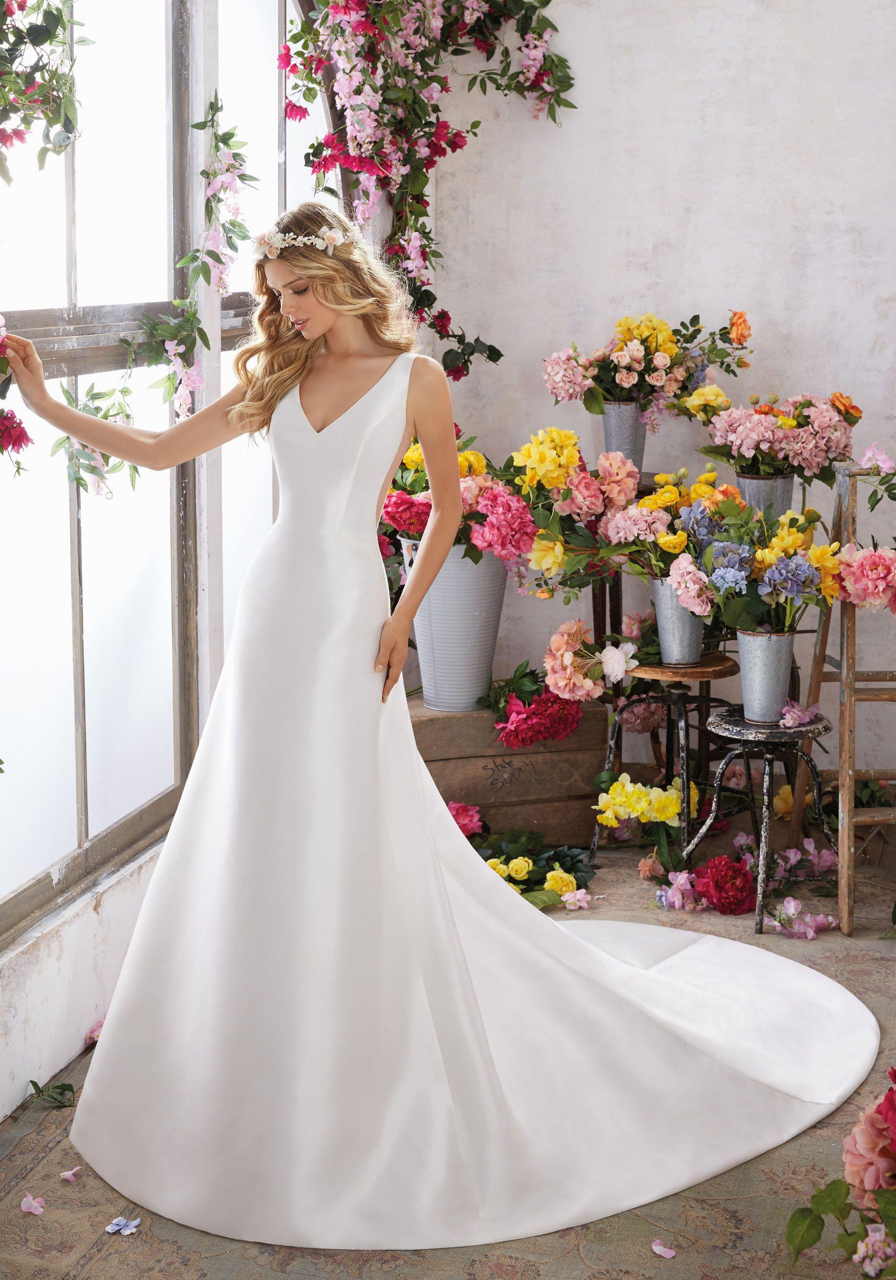 Designer Wedding Dresses and Bridal Gowns by Morilee. Elegant Satin ...