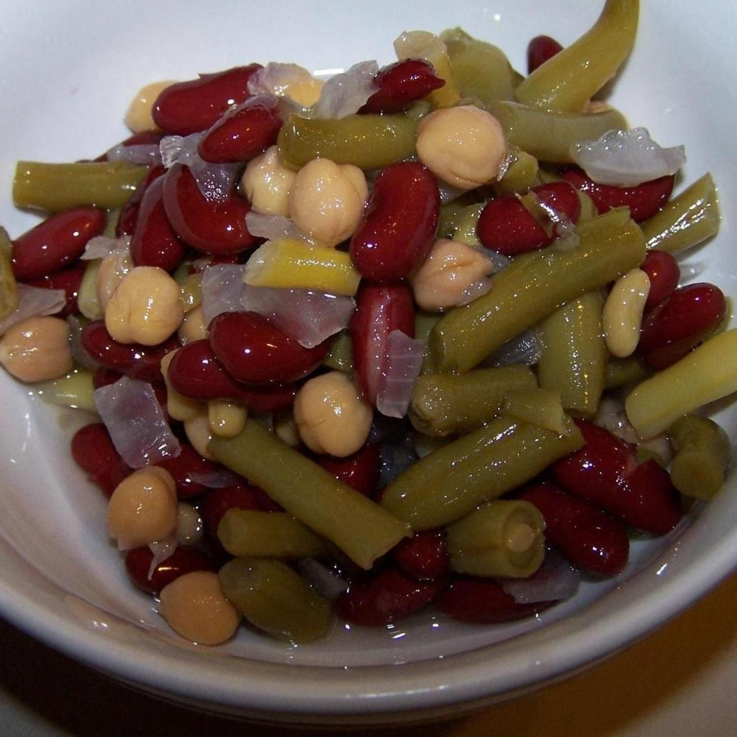 Three Bean Salad Recipe Bean Salad Recipes Three Bean Salad Bean Recipes