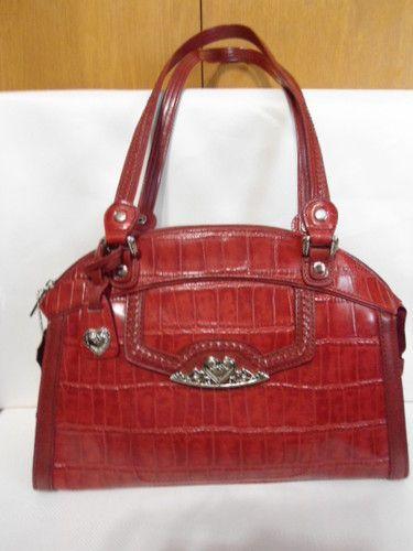 Mc Marc Chantal Red Croco Leather Shoulder Bag Ebay