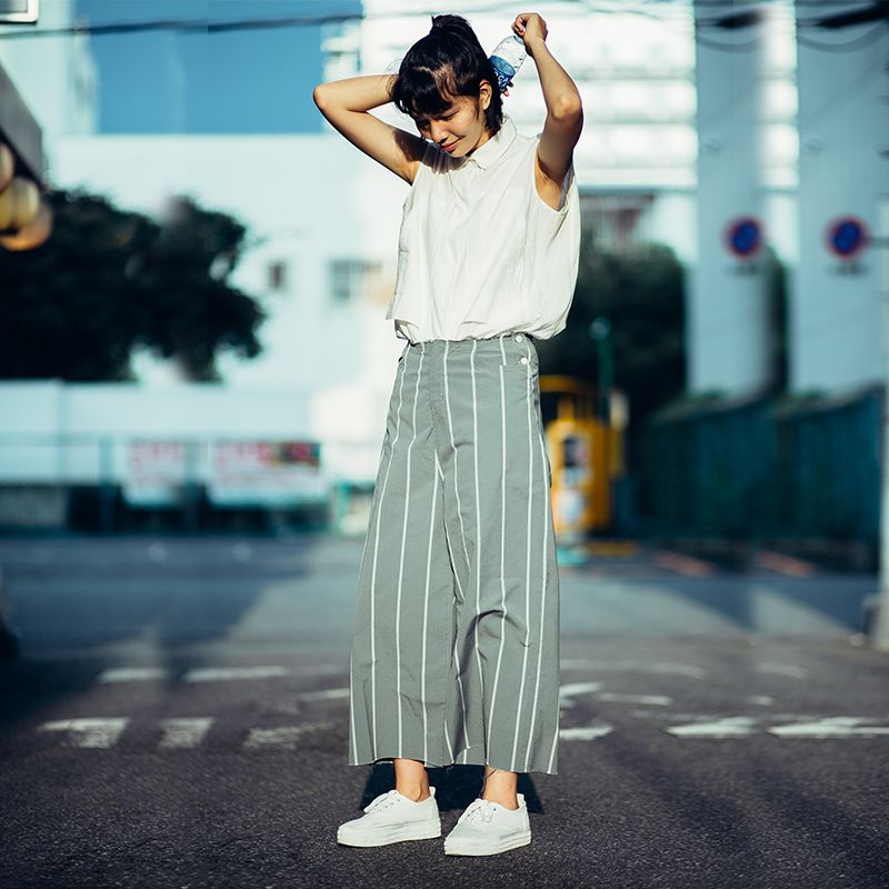 Photo of €112.36 |Deer & Flyer Women Stripe High Waist Wide Leg Pants Fashion Harajuku Hip hop Casual loose long Trousers Green Stripe-in Pantalones y pantalones pirata from Ropa de mujer on AliExpress