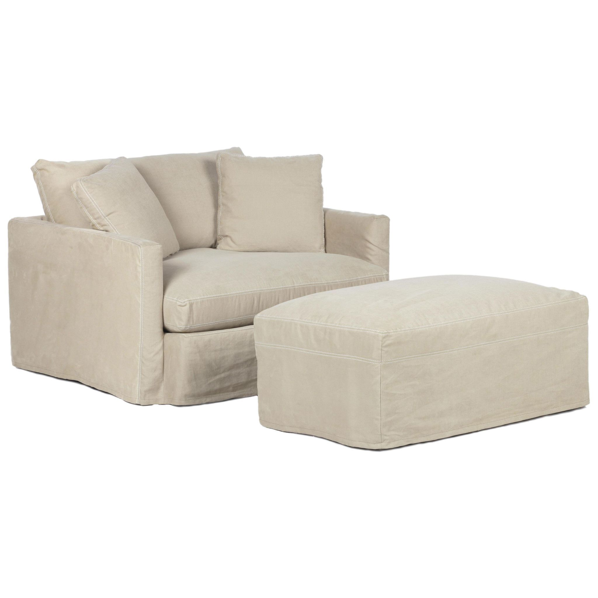 Hue slipcovered chair and half slipcovers for chairs