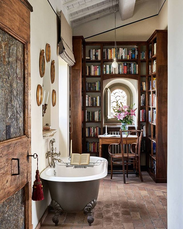 House Garden Magazine On Instagram In An Ancient Italian Town Perched On A Rocky Outcrop And Accessible On In 2020 Unusual Bathrooms Italy House Free Standing Bath