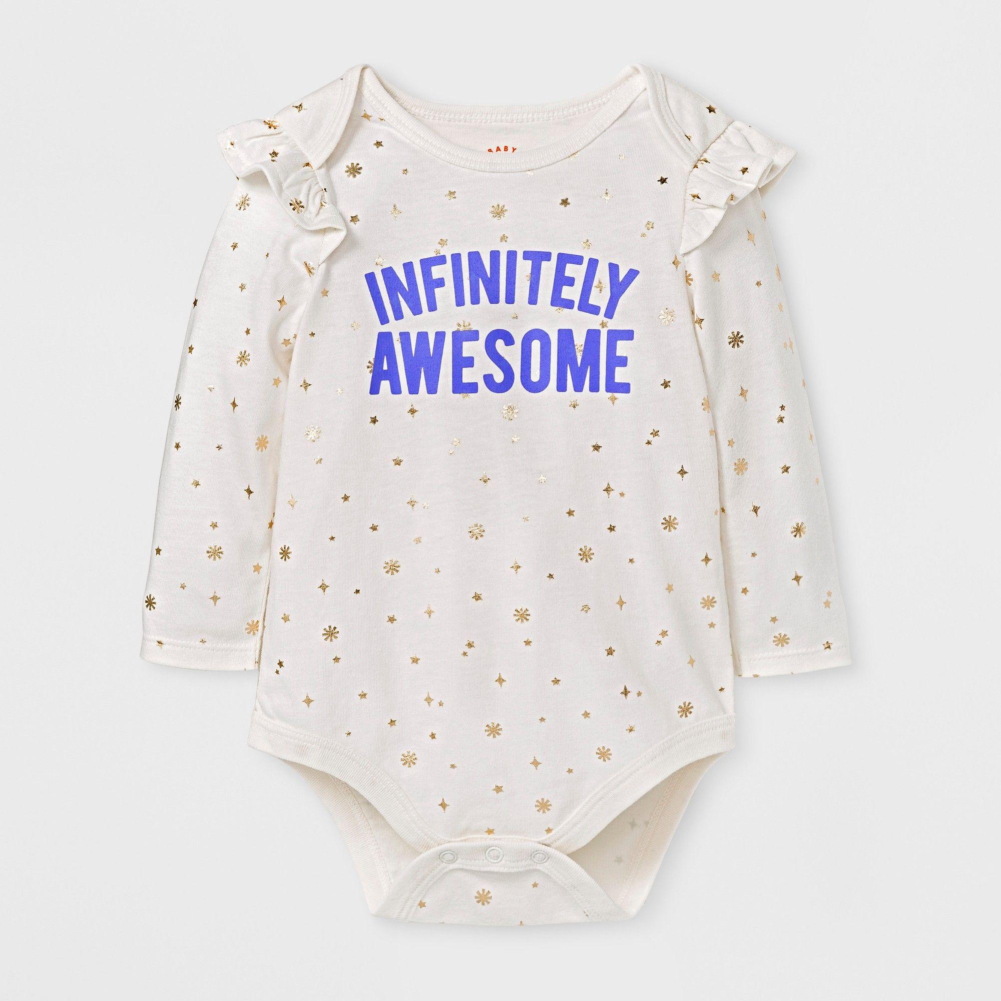 7ac4dc773 Baby Girls  Infinitely Awesome Bodysuit - Cat   Jack Cream 18 M ...