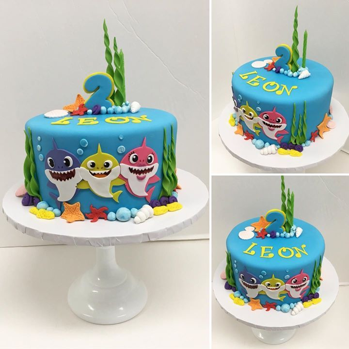 Baby Shark Cake! 🦈 in 2020   Orange birthday cake, Shark ...