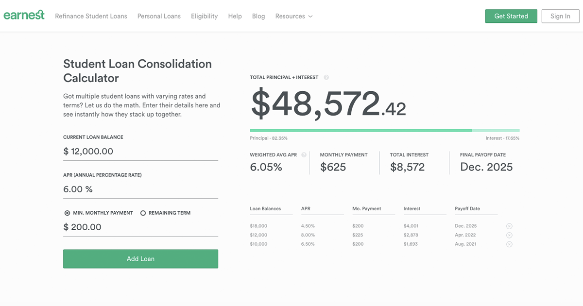 Consolidation Loan Rates Loan Consolidation Loan Calculator Student Loan Consolidation