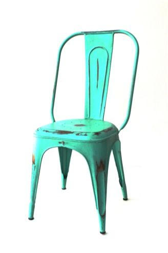 Silla Estilo Tolix Plus Color Aguamarina, Beige, Verde, Rojo