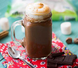This is a sure fire way to way to warm you up on a cold winter day! Spicy Vegan Mexican hot chocolate with Toasted Ancho Marshmallow Fluff.