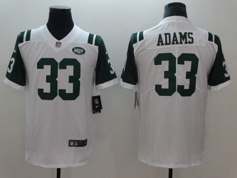 4a94694bb Men New York Jets 33 Adams White Nike Vapor Untouchable Limited NFL Jerseys