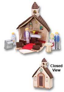 Let S Go To Church Plush Fabric Child Playset Catholic