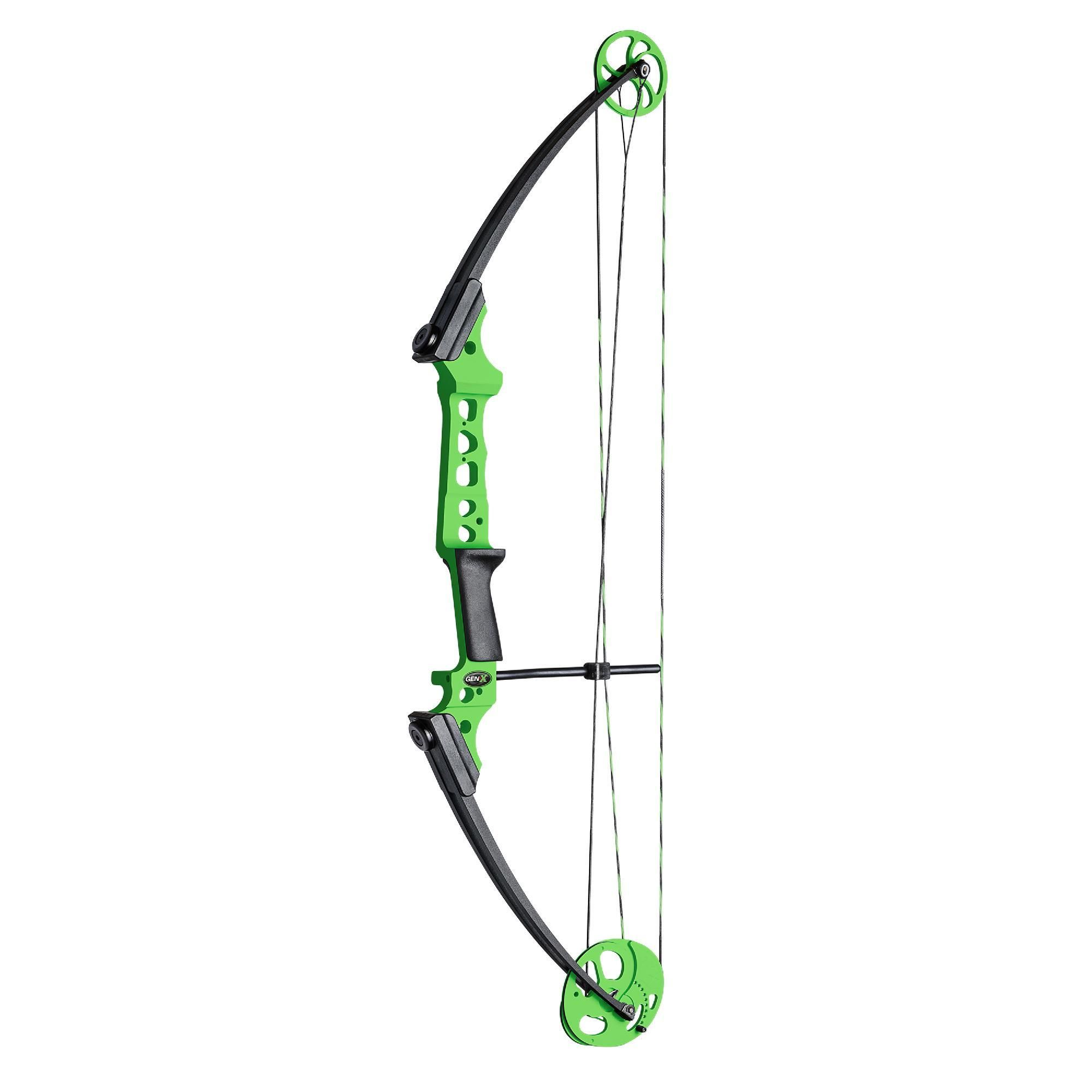 Gen X Bow with Kit Right Handed, Green Bows, Archery