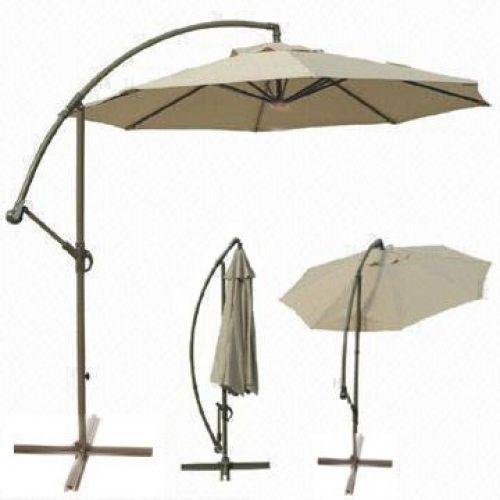 154.23$  Watch now - http://viskt.justgood.pw/vig/item.php?t=mnxbxg41643 - Deluxe 10 Ft Offset Cantilever Hanging Patio Deck Heavy Duty 250g Umbrella inTan