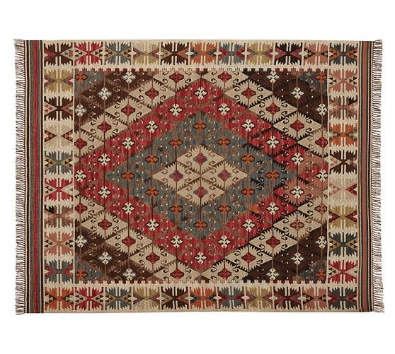 Rosario Kilim Recycled Yarn Indoor/Outdoor Rug | Pottery Barn - For our  mudroom