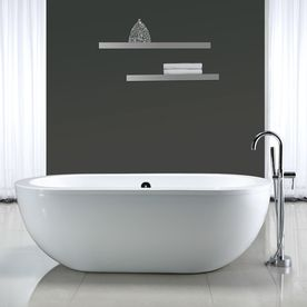 Shop OVE Decors Serenity 71in Gloss White Acrylic