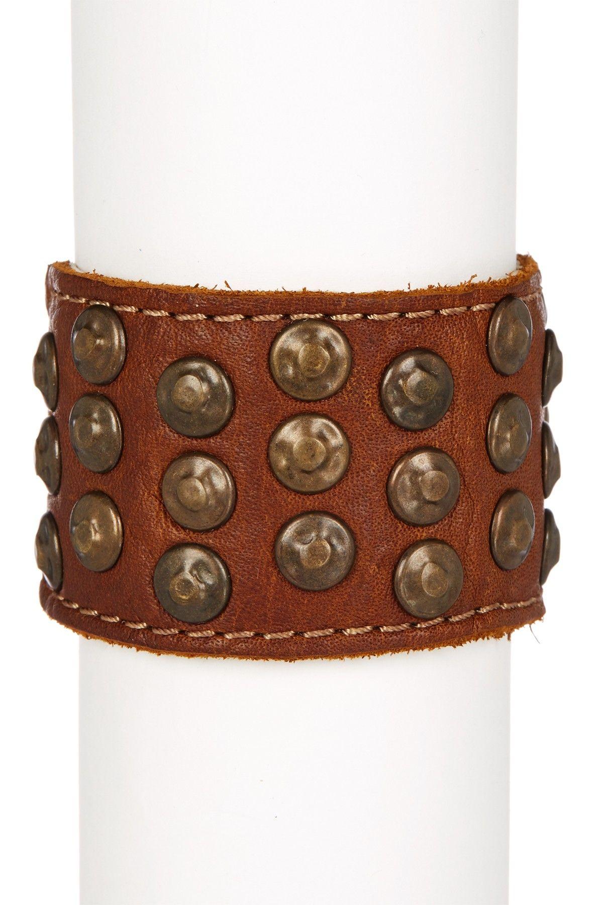 Stud Leather Cuff