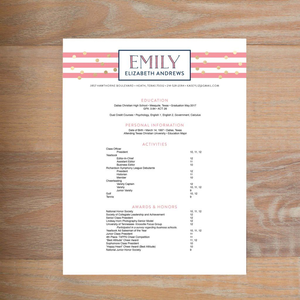 sorority recruitment resume template free
