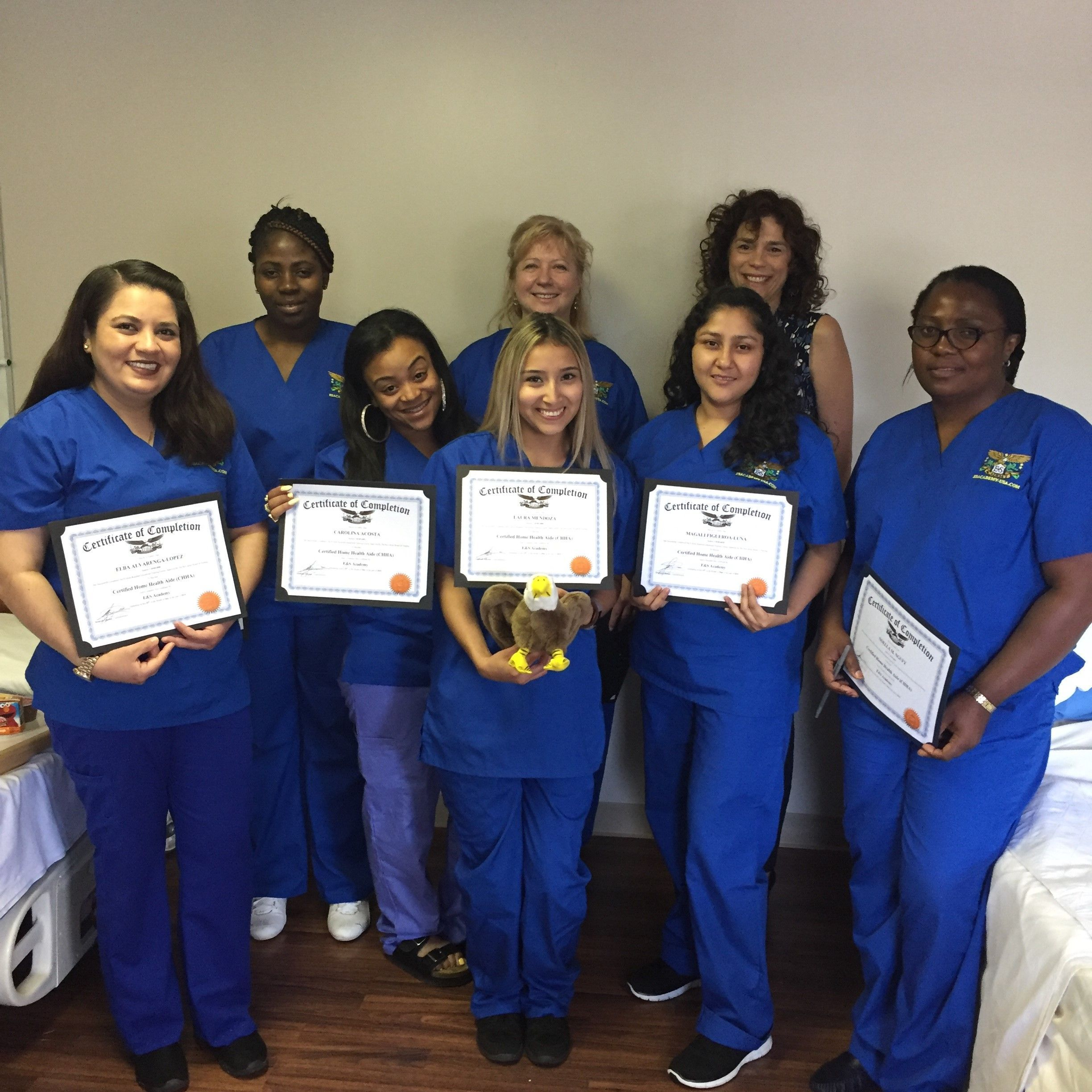 Congratulations To Our May Home Health Aide Students For Completing Our Training Program In South Plainfield E Home Health Aide South Plainfield Home Health