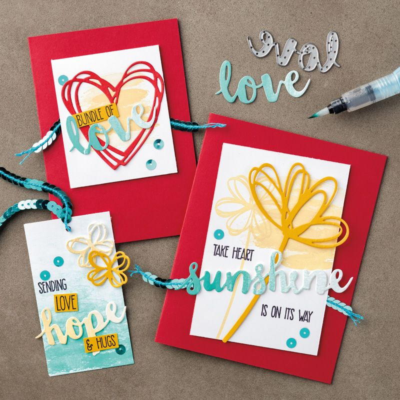 Sunshine Sayings, Sunshine Wishes Thinlits by Stampin\' Up! | Card ...