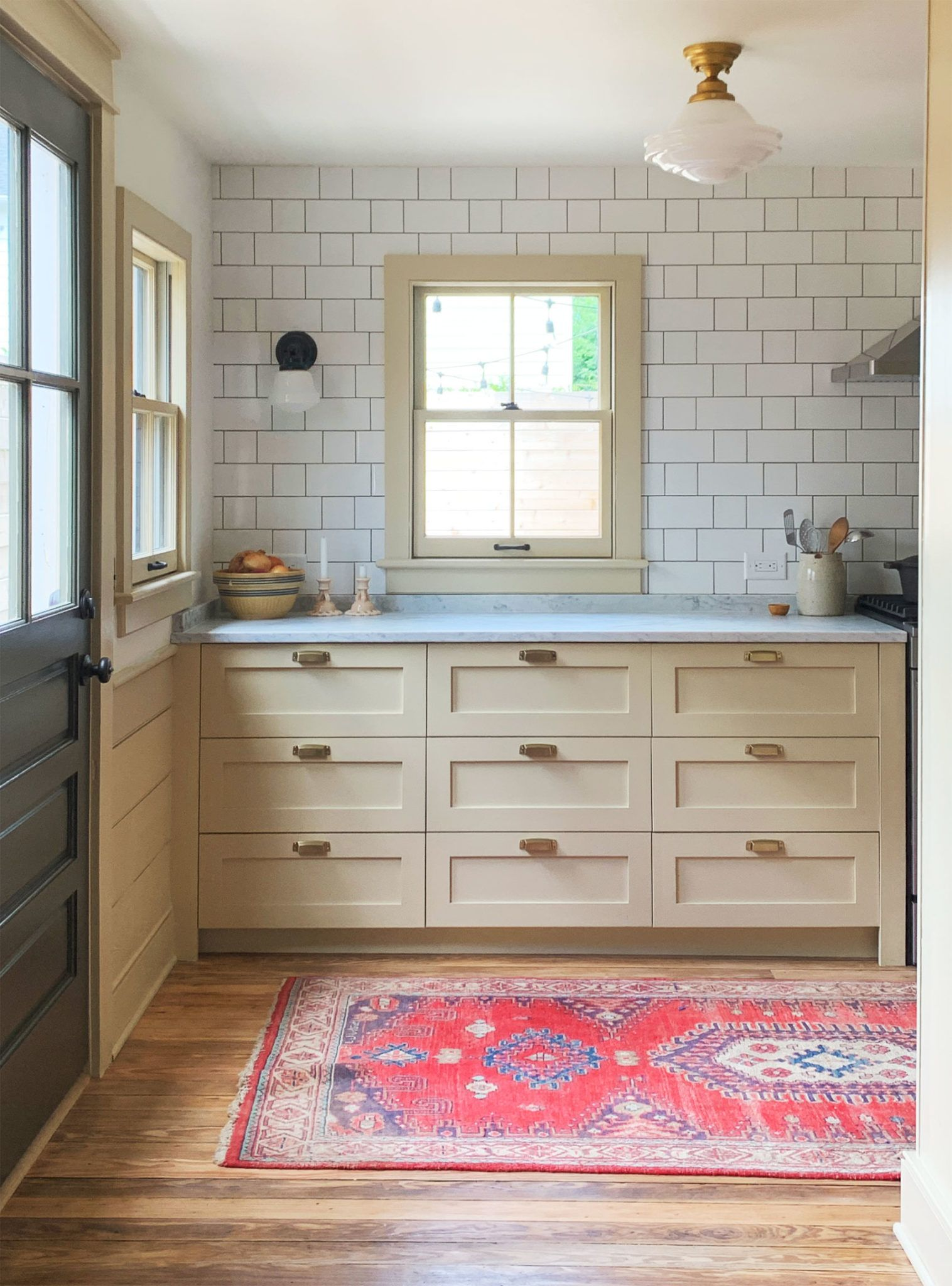 Cottage Kitchen With Semihandmade Diy Shaker Fronts On Ikea