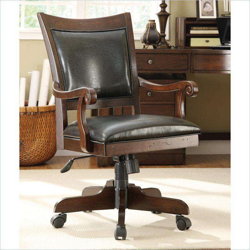 Castlewood Desk Chair In Warm, Riverside Furniture Desk Chair