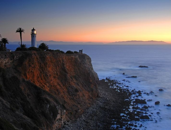 Lighting the Way | Discover Los Angeles Point Vicente Lighthouse, on the tip of the Palos Verdes Peninsula, shines its light from 185 feet above the Pacific Ocean and the Catalina Channel. 4   3   3   0   Subscribe to RSS